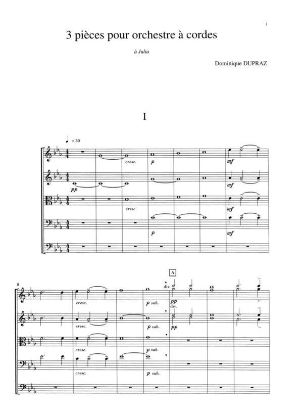 Trois Pièces pour orchestre à cordes