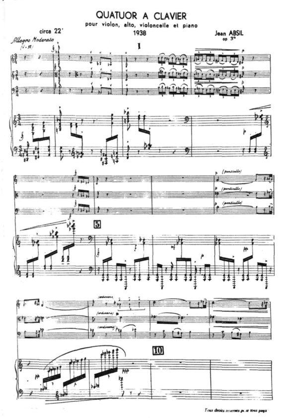 Quatuor à clavier