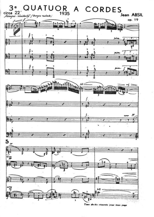 3e Quatuor à cordes