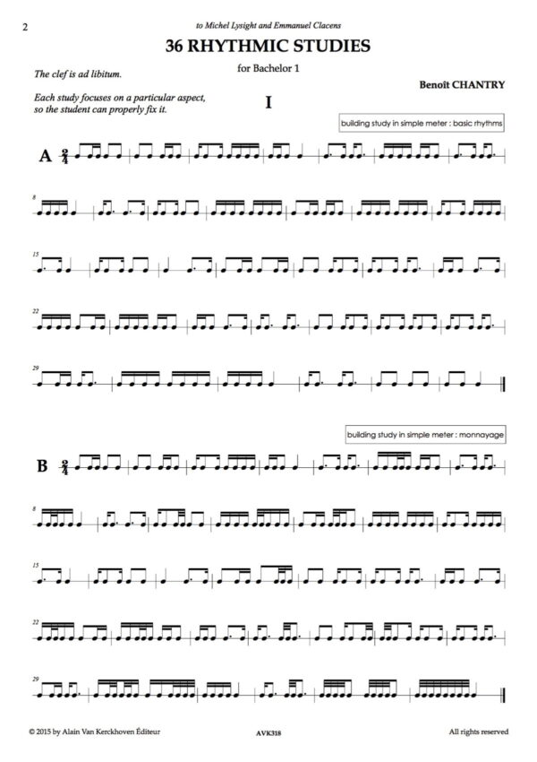 36 Rhythmic Studies